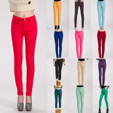 New Women Plus Thick Velvet Solid Color Pencil Pants Slim Fit Skinny Stretch Jeans Trousers Hot WPA001