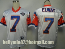 Stitiched,Denver Broncos ,Dennis Smith,John Elway,Terrell Davis,Steve Atwater,Shannon Sharpe,Peyton Manning,Throwback(China (Mainland))