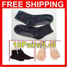 New 10Pairs/Lot Self Heating Tourmaline Health Care Socks Anti Cold Feet Problem Solution Physiotherapy Foot massage Socks