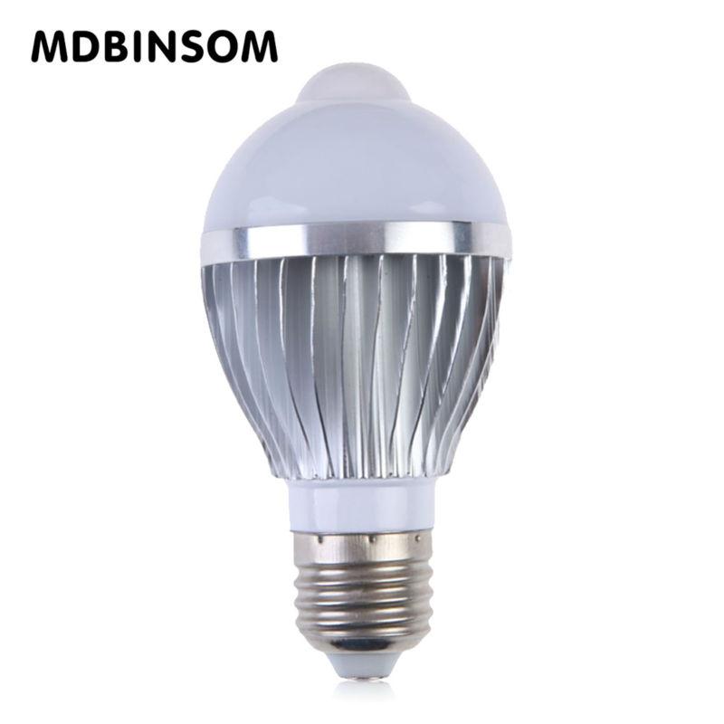 E27 LED Motion Sensor Bulb Lamp 5W 7W Spotlight Led Bulb for Home Decorraction Lighting AC85-265V Chandelier Bulb Lamps BEENSOM(China (Mainland))