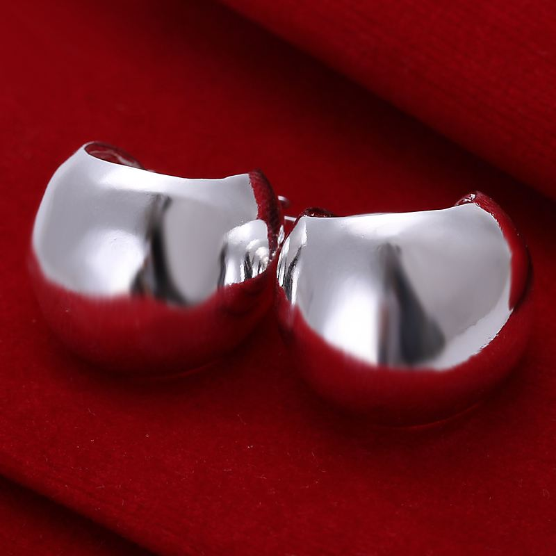 Factory price top quaility 925 sterling silver jewelry earring fine smooth cute stud jewelry earring free shipping SMTE052<br><br>Aliexpress