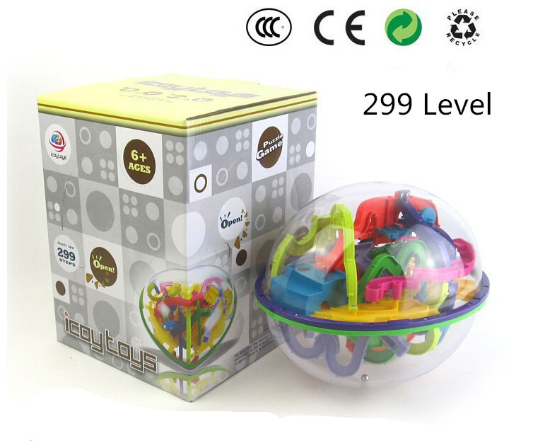 3D Magic Maze Ball 299 Closed Level Intellect Ball Childrens Educational toys Orbit game intelligence Christmas New year Gift<br><br>Aliexpress