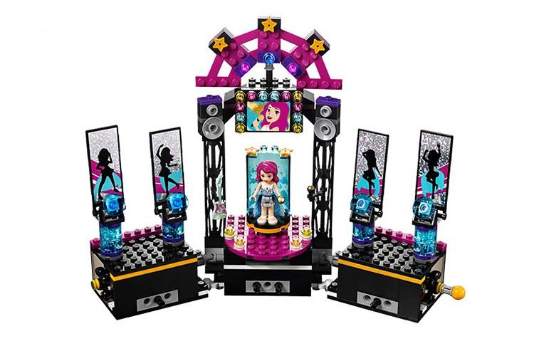 448pcs Pals Pop Star Stage Constructing Blocks Units Good friend Livi Andrea Minifigures Bricks toys Appropriate Legoe Good friend For Women