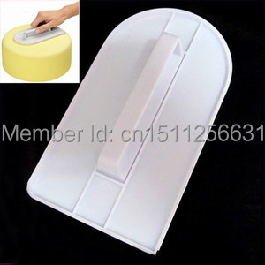 1pc Plastic Sugarcraft Fondant Smoothing Cake Decorating Edge Polisher Tool Mold(China (Mainland))