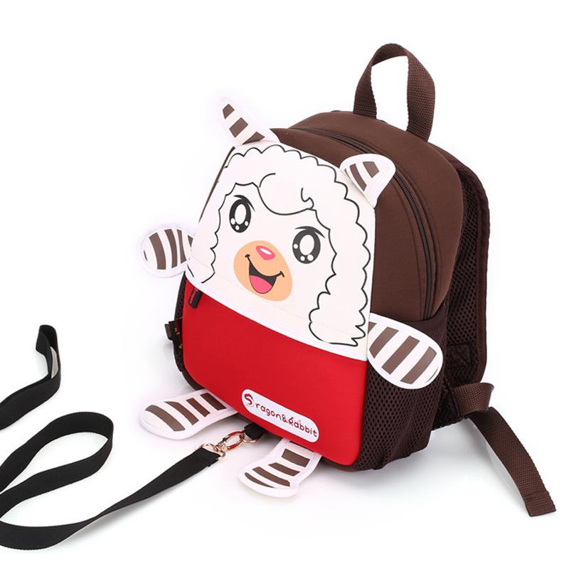 Children school bags sheep animal Nylon backpack kindergarten girls boys kid backpack cute cartoon toys bags buy one get one BB <br><br>Aliexpress