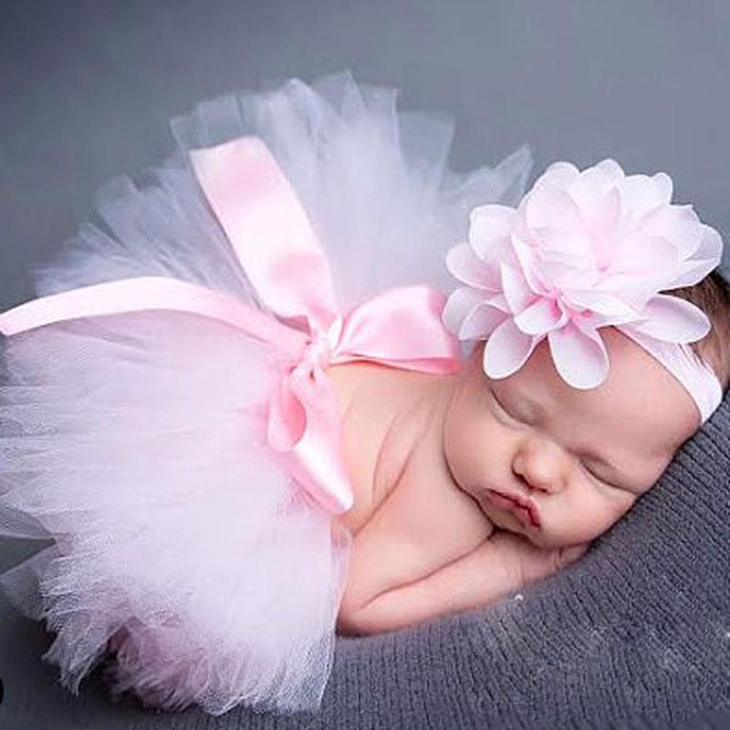 Newborn Photography Props Infant Girl Pettiskirt Princess Baby Tutu Skirt Headband Baby Photography Props(China (Mainland))
