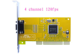 Free shipping 2014 new seconds kill wholesale 4 channel 120fps security cctv camera video capture card d1recording pci dvr(China (Mainland))