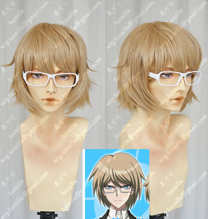 Danganronpa Togami Byakuya Flaxen Colour Cosplay Party Wig<br><br>Aliexpress