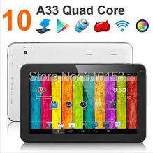 free shipping 10 inch Quad Core Tablet PC  Android 4.4 1GB ram 8GB rom 1024*600 2.0MP 6000Mah Battery