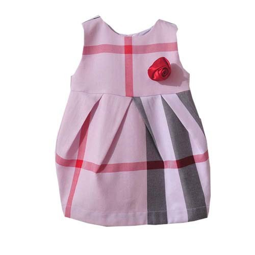 Baby Girl Fashion Clothing Kids Plaid Autumn Dresses Girls Flower Dress Baby Sleeveless Dress 1pcs Free Shipping<br><br>Aliexpress