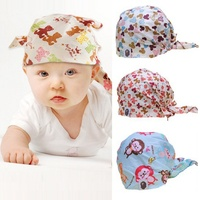 1 pcs/lot baby hats kids caps cotton beanies pirate cap for 1-2 years old Infant,lovely elastic skullies boys' & girls' beanies