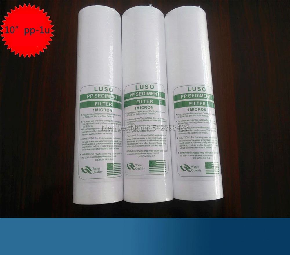 "Free Shipping!Spun PP Sediment Water Filter Cartridge 10"" 1Micron Osmosis Water Filter 4pcs/lot(China (Mainland))"
