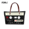 Funny Magnetic Tape Female New Casual Shoulder Bags Large Famous Brand Women Top handle Bags Lady