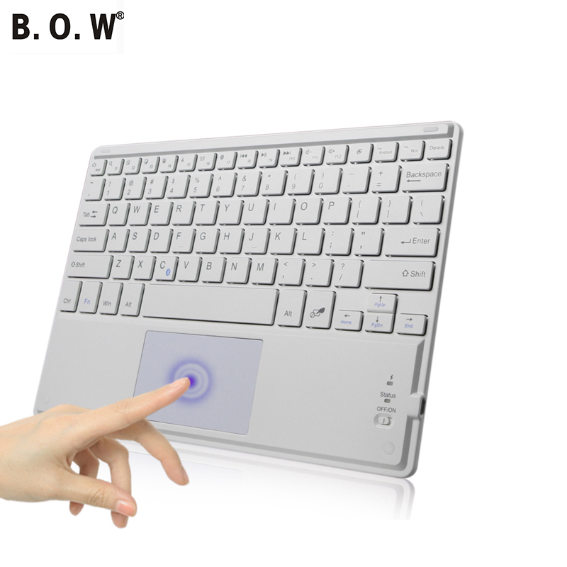 Bluetooth Keyboard with Touch Mouse for Android Win 8 Pad PC with Cover Portable Wireless Keyboard(China (Mainland))