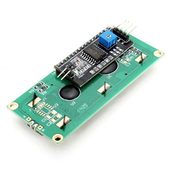 Hot Sale Electric Unit IIC/I2C 1602 Backlight LCD Display Module Blue Screen Controller For Arduino Power Supply Voltage +5 v(China (Mainland))