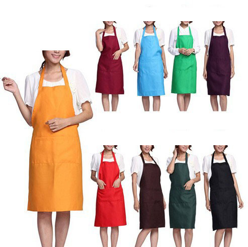 2015 Fashion Plain Apron with Front Pocket for Chefs Butchers Kitchen Cooking Craft UK Baking Home Cleaning Tool Accessories(China (Mainland))
