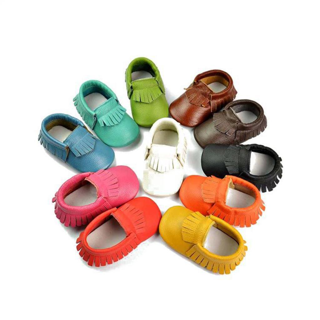 New Fashion 1 pair Baby Moccasins Soft Baby Shoes Newborn Baby firstwalker Anti-slip Genuine Cow Leather Infant Footwear(China (Mainland))