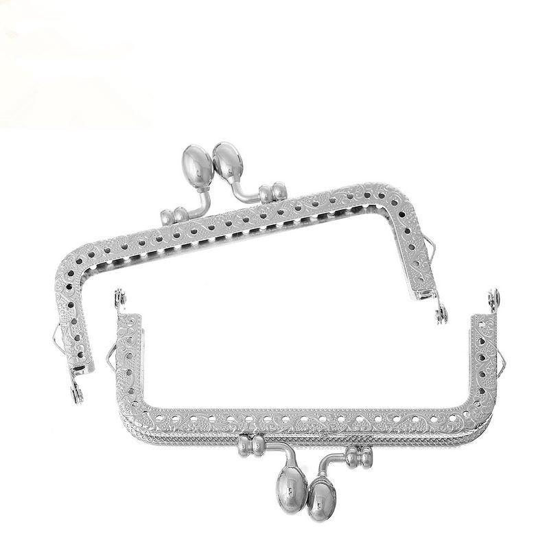 100Pcs DIY Silver Tone Handbag Coins Purse Arch Arc Frame Kiss Clasps Clips Lock Clutch Handle Findings 10.8x6.7cm<br><br>Aliexpress