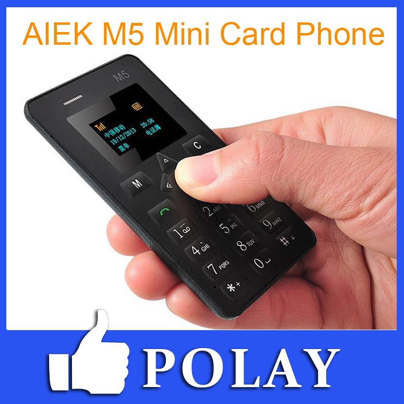AEKU AIEK M5 V5 Card Mobile Phone 4.5mm Ultra Thin Pocket Mini Phones Low Radiation FM GSM Engkis/Russian/Arabic Keyboard PK M3(China (Mainland))