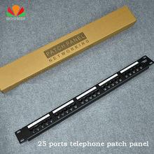 25-ports telephone patch panel  voice patch panel rack Standard 19-inch rack 110 Terminal Interface (Modular)(China (Mainland))