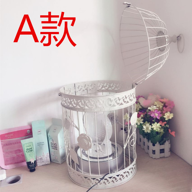 Free shipping iron decoration bird cage european white for Article decoration