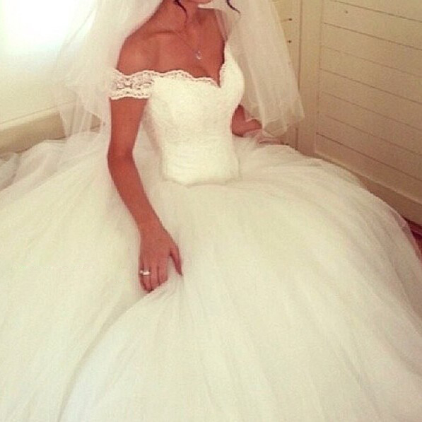 Robe De Mariage Romantic V Neck Lace Wedding Dresses Luxury Tulle Bridal Gowns Dress Bride - Weddings & Events Collection store
