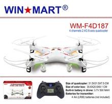 Rc drone WM-F4D187 gros 12 PCS / carton 4 canal 6 gyro RC quadcopter X5C livraison gratuite à USA et en asie