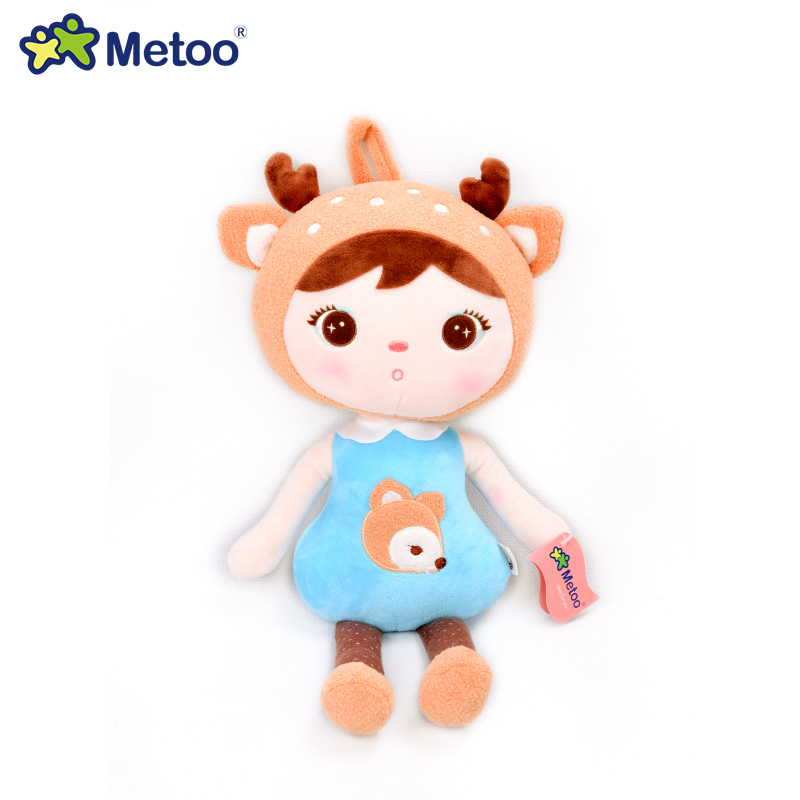Metoo Mini Cute Lucky Dolls Stuffed Toys Plush Doll For Girls Bag Chain Toy Multicolor Dress up Skirt Dolls For Baby Kids(China (Mainland))