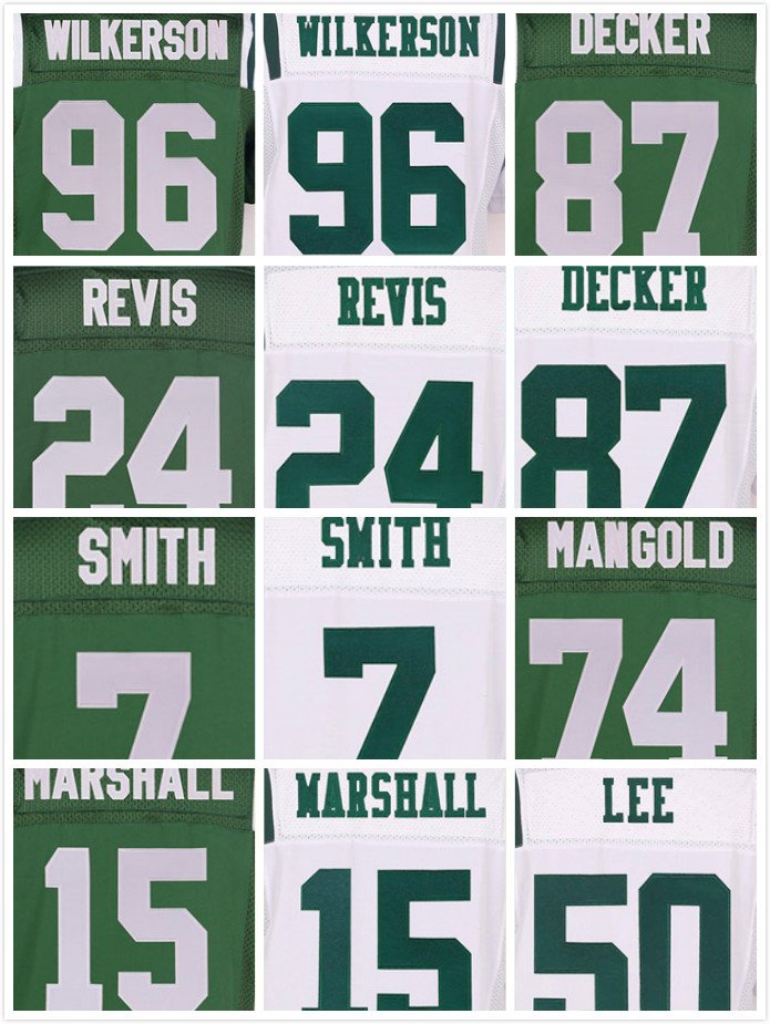 Costurado 96 Muhammad Wilkerson 15 Brandon Marshall 24 Darrelle Revis 7 Geno Smith 87 Eric Decker 12 Joe Namath Elite Jerseys(China (Mainland))