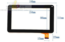 """7"""" Capacitive Touch Screen With Glass Replacement Screen For Tablet PC 7inch Allwinner A13 86V Y7Y007 GT70PW86V Touch Repair(China (Mainland))"""