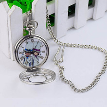 Fashion Casual Quartz Pocket Watch Anime Detective Conan Theme Exquisite Hollow Necklace Pocket Watch Couple Gift with new box(China (Mainland))