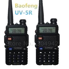 2-PCS BAOFENG UV-5R WALKIE TALKIE pair Black ham two way radio dual band vhf uhf Portable radio baofeng uv 5r 2 comunicador(China (Mainland))