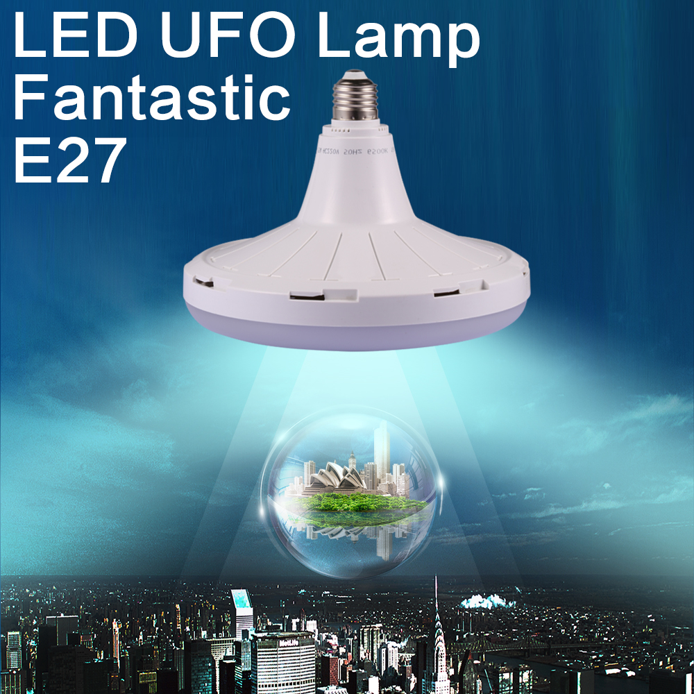 180-265V High Brightness LED UFO Flat Light 15W Energy Saving Lamp 25W 35W 45W 55W LED Bulb E27 LED Light for Homelighting(China (Mainland))