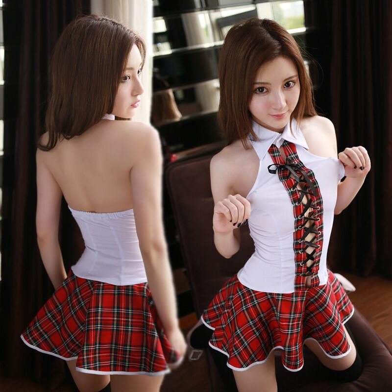 2016 New Hot Sale Cosplay Student Uniforms Sexy Lingerie Women Costumes Fashion Sex Products Toy Underwear Role Play(China (Mainland))