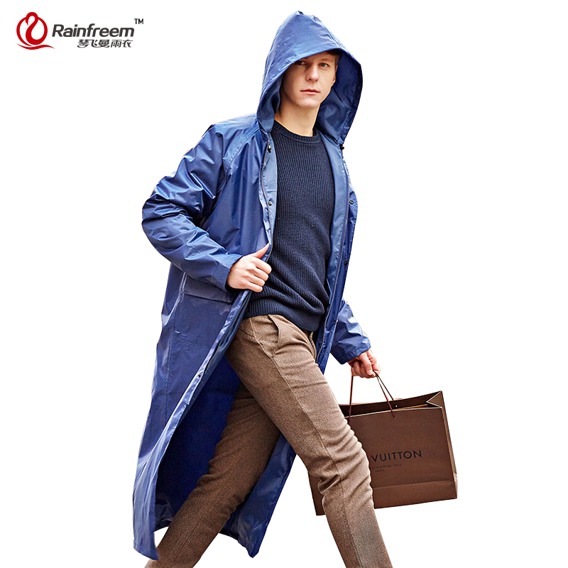 Rainfreem Impermeable Raincoat Women/Men Waterproof Trench Coat Poncho Single-layer Rain Coat Women Rainwear Rain Gear Poncho(China (Mainland))