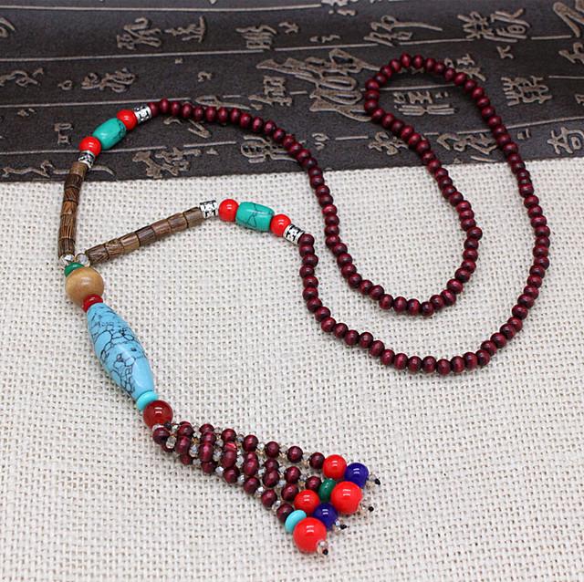 Уникальный дизайн оригинальные этнические tassle кристаллический камень длинные ожерелья ...