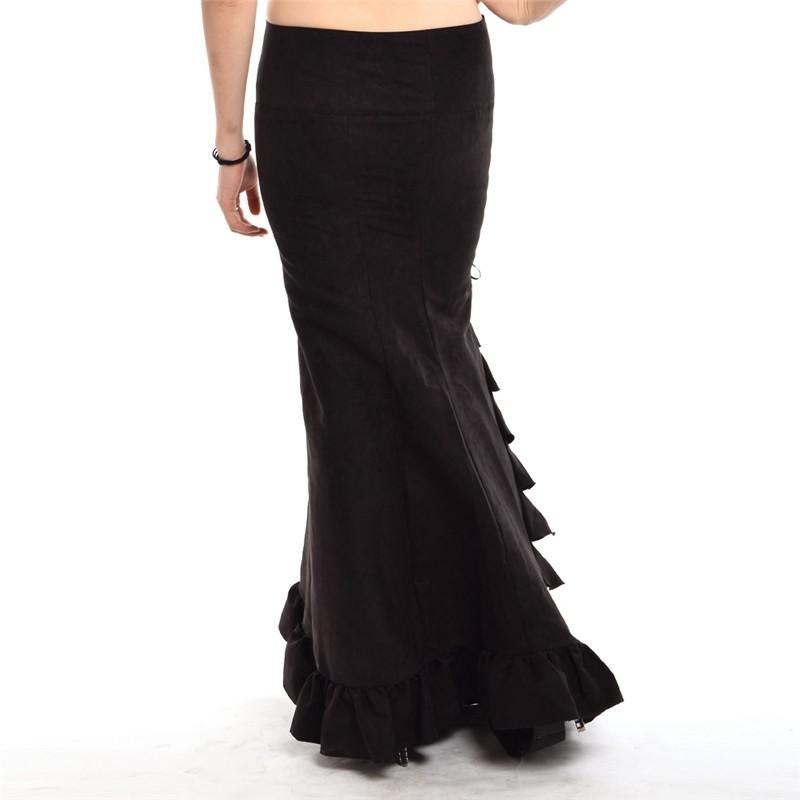 Women Vintage Steampunk Mermaid Skirt Victorian