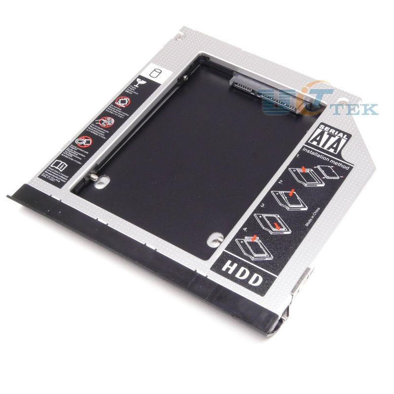 With Ejector SATA 2nd HDD Hard Drive Caddy For Dell Latitude E Series E6420 E6520 E6320 E6430 E6530 9.5mm Optical Module Bay(China (Mainland))