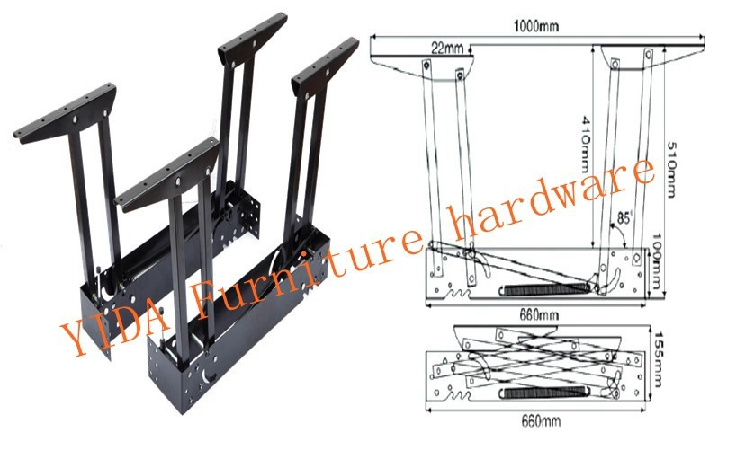 furniture hardware . lift top mechanism for coffee table.Multi-function table accessories(China (Mainland))
