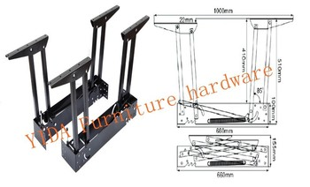 furniture hardware . lift top mechanism for coffee table.Multi-function table accessories