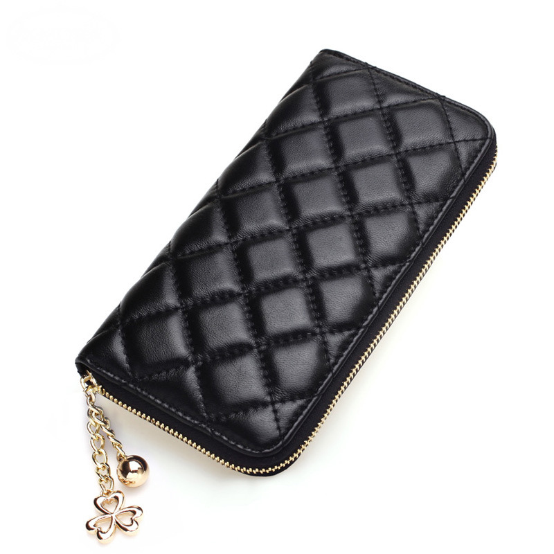 2016 New 3D Diamond Plaid Women Long Wallets Leather Clutch Wallet Money Bag Purse Female Case Phone Purses Card Holder Vintage(China (Mainland))