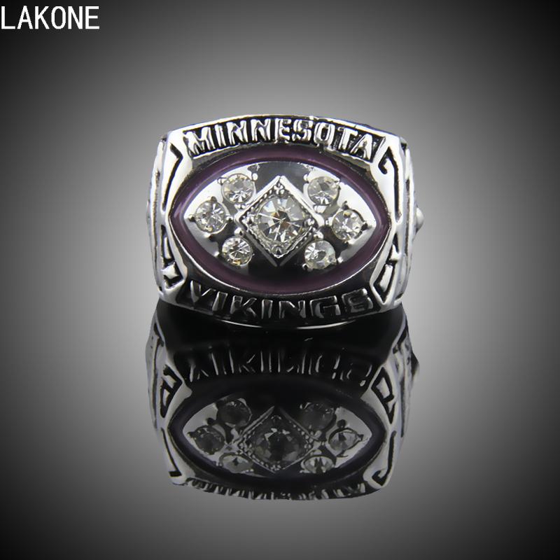 LAKONE Championship ring,1976 Minnesota Vikings Super Bowl Championship Ring, sports fans rings, men gift ring.(China (Mainland))