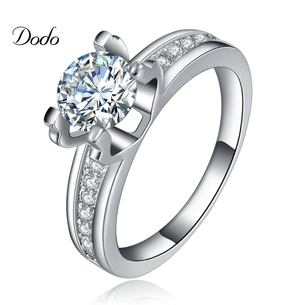 Top hollow wedding rings white gold plated engagement aaa for Jewelry wedding rings