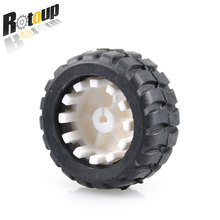 Buy Rotoup Rubber wheels tires trye 43*19*3mm D-hole Shaft wheel Robot Smart Car platform DIY RC Toys Wholesale 50pcs #RBP005 for $46.39 in AliExpress store