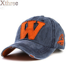 Xthree hot cotton embroidery letter W baseball cap snapback caps fitted bone casquette hat for men custom hats(China (Mainland))