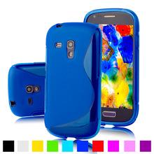 I8190 S линии небуксующий мягкий гель тпу кожного покрова для Samsung Galaxy S3 SIII мини-i8190 4 дюймов мобильный телефон силиконовый защитный чехол