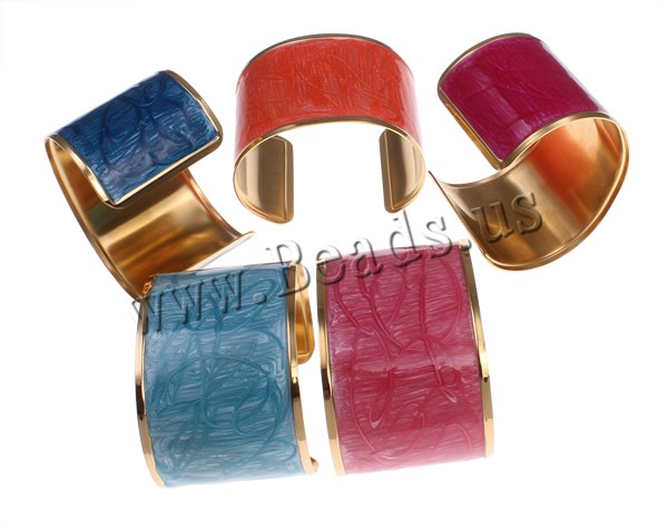 10 pieces/lot Jewelry Womens Stainless Steel Bangle Enamel Gold Color Plated Cuff Bracelet<br><br>Aliexpress