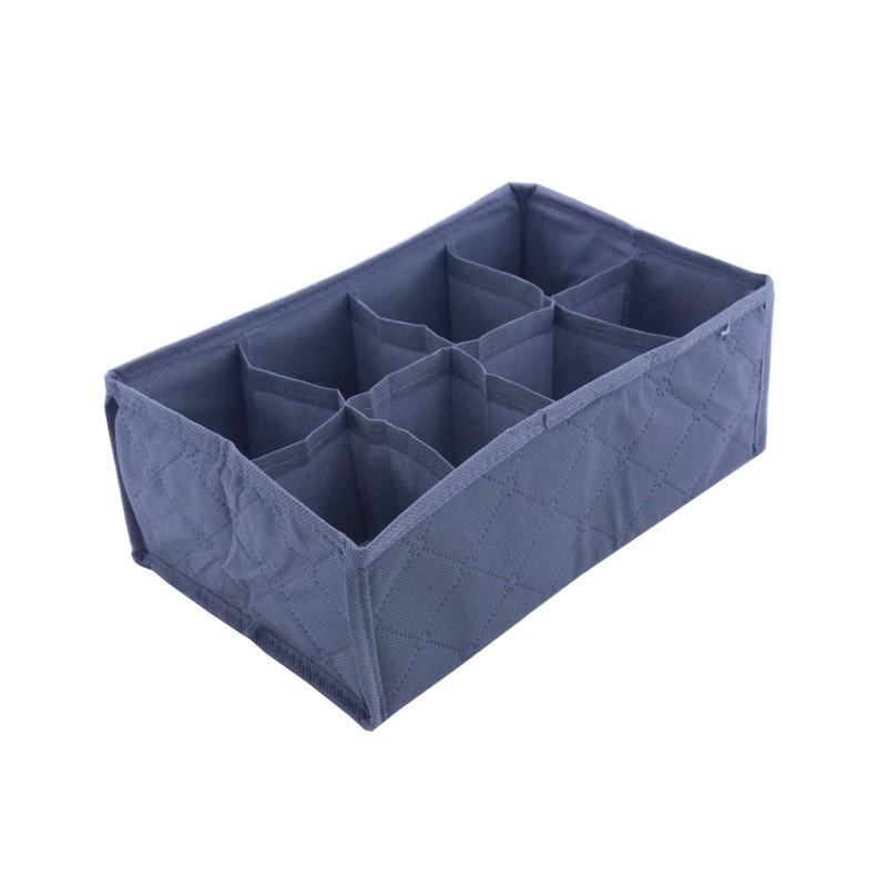 Home Storage supply Foldable 8 Cell Bamboo Underwear Bra Scarf Ties Socks Organizer Storage Box Drawer Closet Divider(China (Mainland))