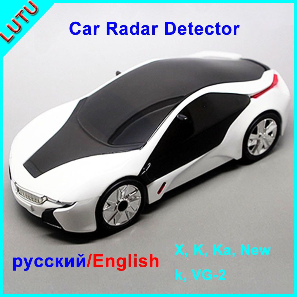 Russian/English Speaking Car Styling White Color Factory Price Anti Speed Testing Avoid Ticket Auto Radar Detector(China (Mainland))