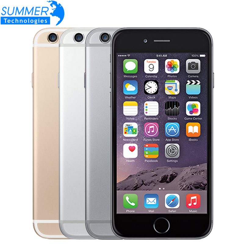 Original Unlocked Apple iPhone 6 Cell Phones IOS IPS 1GB RAM 16G 64G 128G ROM GSM WCDMA LTE Fingerprint Mobile Phone iPhone6(China (Mainland))